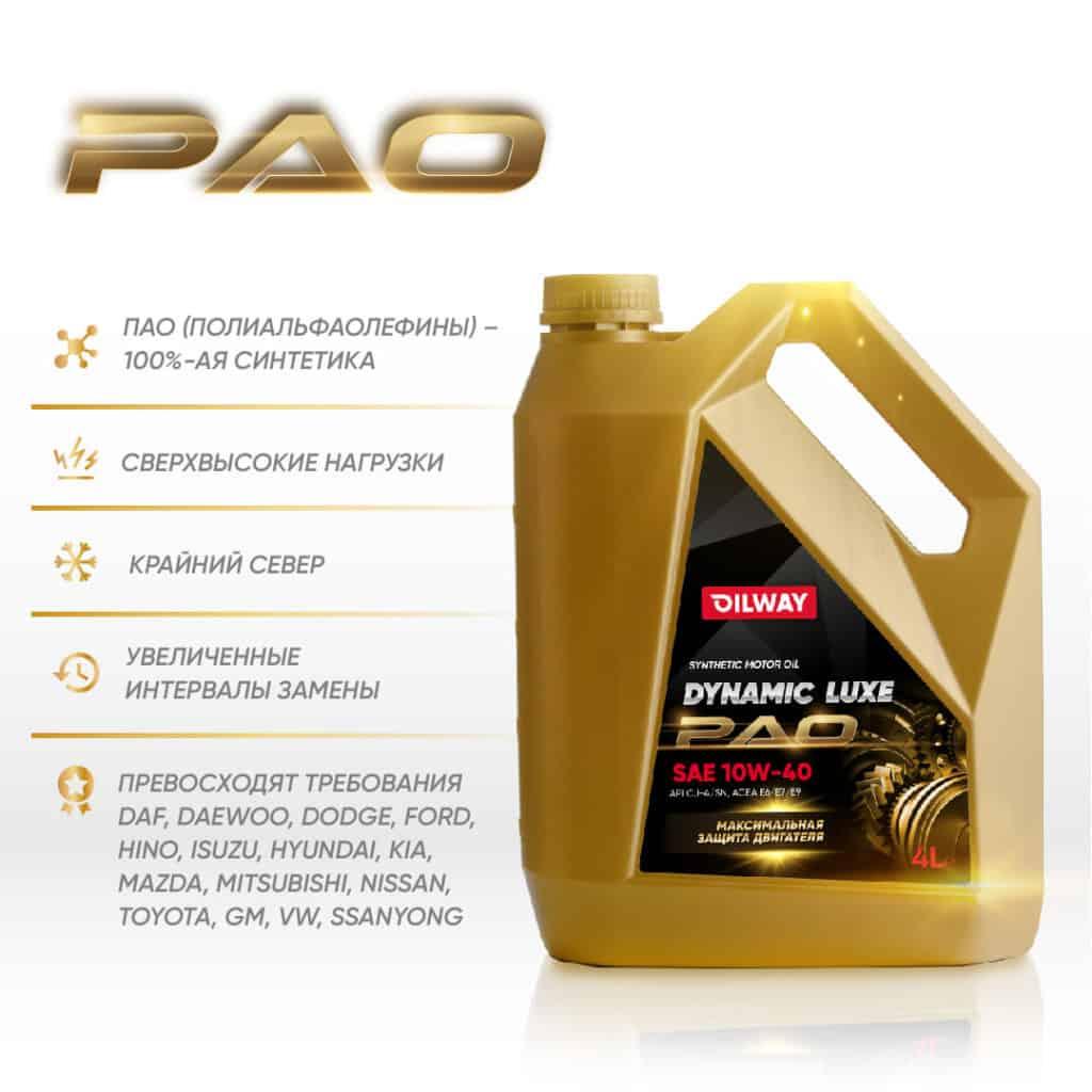 Долгожданная новинка Нефтесинтез – Dynamic Luxe PAO